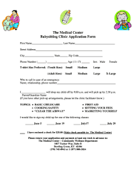 19 Printable Medical Release Form For Babysitter Templates