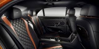 2018 bentley flying spur. exellent flying black and orange leather rear cabin interior of a bentley flying spur  w12  motors and 2018 bentley flying spur