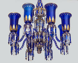 curtain appealing cobalt blue chandelier 13 chandeliers an important glass and a pair of matching wall