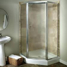 angled gray vinyl framed shower door drip rail angle shower enclosures gallery shower doors of angle
