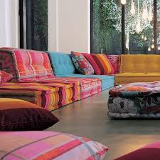 Roche bobois floor cushion seating Low Table Floor Colorful Sofa Design From Roche Bobois Pinterest Colorful Sofa Design From Roche Bobois Home Sweet Home Sofa