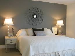 Master bedroom with painted wall