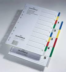 Купить <b>Разделитель индексный Durable 6730-27</b> A4 пластик 5 ...