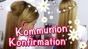 Konfirmation Kommunion Frisuren Klassisch Einfach Und