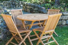 teak folding garden patio set ottena