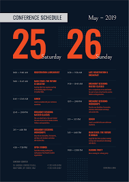 Typography Design Template Conference Schedule Template Event Poster Template
