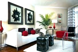 Black And Red Living Room Decorating Ideas Black Red And White ...