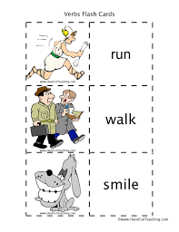 Verb Action Action Verbs Flash Cards Have Fun Teaching