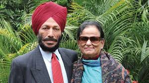 milkha singh and wife