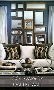 how to create a gold mirror gallery wall focal point