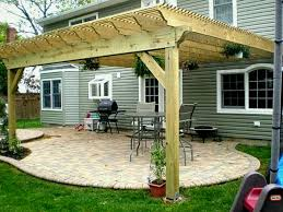 building a pergola over patio best design birch polished finish wooden posts crossbeams rafters battens ideas