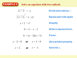 solve an equation with two radicals