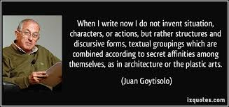 When I write now I do not invent situation, characters, or actions ... via Relatably.com