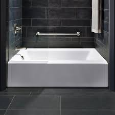 clever kohler soaking tub bath right drain archer 5 ft x 30 acrylic white image is loading