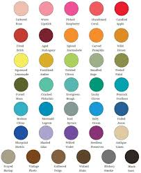Ranger Tim Holtz Distress Oxide Ink Pad Colour Chart