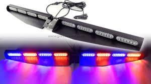 Sun Visor Police Lights V911 48 Led Superior Led Visor Light Bar Red Blue Sun Visor