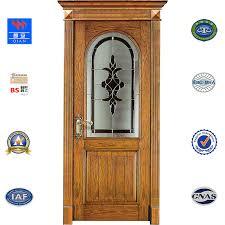 china sw vv 001 interior teak solid wood door with tempered glass china wood door door