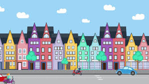 Cartoon Houses Are In The Stock Footage Video 100 Royalty Free 14983903 Shutterstock