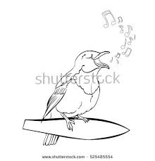 Small Picture Vector Singing Nightingale Bird Cartoon Character Stock Vector