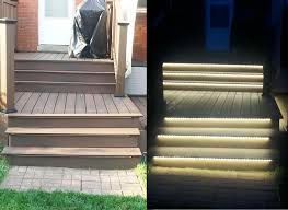 image of motion sensor outdoor stair lighting