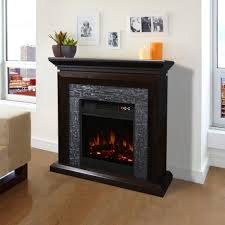 Kitchen Mantel Mantel Cabinet Espresso Electric Fireplace Mantel With Large Room
