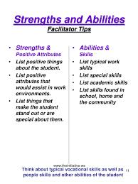 Skills And Strengths List Ppt Student Career Plans Powerpoint Presentation Id 6601376