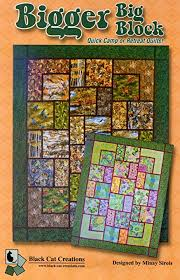 Big Block Quilt Patterns Inspiration Amazon Bigger Big Block Quilt Pattern For Large And Scenic
