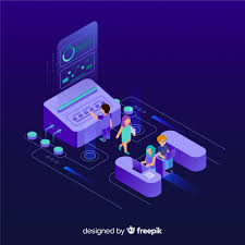 Isometric Infographic With Charts And People Vector Free