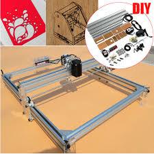 40x50cm desktop laser engraving cutting machine 2500mw diy logo wood marking printer engraver kit com