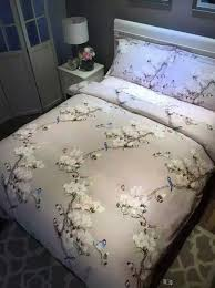Bird print bedding set sheets duvet cover bed linen floral ... & Bird print bedding set sheets duvet cover bed linen floral butterfly king size  queen full double Adamdwight.com
