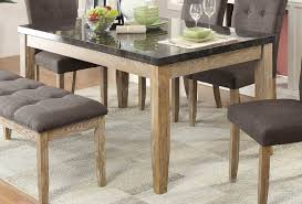weathered wood dining table. Homelegance Huron Dining Table - Faux Marble Top Weathered Wood D