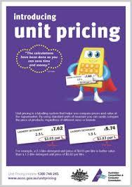 Introducing Unit Pricing Accc