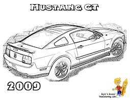 Car 23 Ford Mustang 2009 Coloring