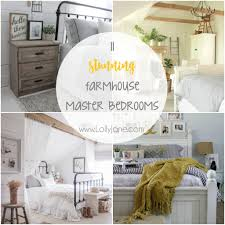 Magnificient farmhouse master bedroom decor design ideas Stylish 11 Stunning Farmhouse Master Bedrooms Lolly Jane 11 Stunning Farmhouse Master Bedrooms Lolly Jane