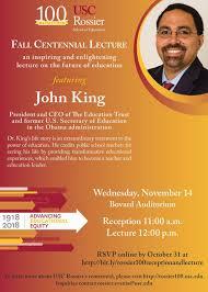 2018 Fall Centennial Lecture With John King November 14 Emeriti