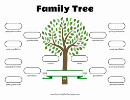 Free Family Tree Template Word Tinymcsmall Template
