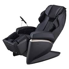 black leather massage chair. massage chair black leather with double foot roller and adjustable back zero gravity osaki made m
