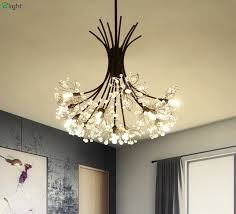 lamp shade with crystal droplets art deco glass crystal drops chandelier lamps with black base more