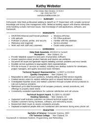 Sample Help Desk Support Resume Resume Help Desk Support Resume