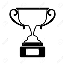 Trophy Award In Black And White Illustration Royalty Free Cliparts