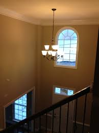 image of foyer entryway chandelier