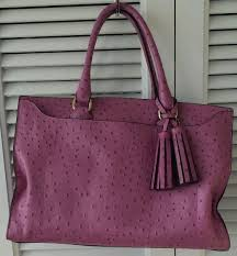 Coach Legacy Pinnacle Leighton Carryall in embossed ostrich. Regularly 898