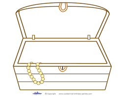 Treasure Chest Coloring Page 6 Coloring Book
