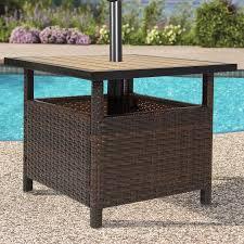 table umbrella stand. patio umbrella stand wicker rattan outdoor furniture garden deck pool table h