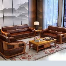 modern style teak wood leatherite