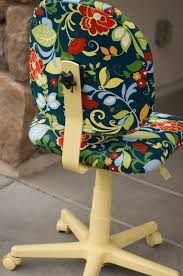 office chair makeover. colorful office chair makeover