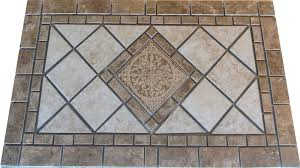 Decorative Floor Tile Medallions PS Porcelain with Insert Mosaic Medallion 2