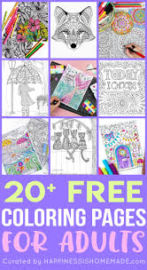 The first and only site that collects thousands of quality, hard to find artistic designs, for those many teenagers have a passion for drawing and are no longer content to color images for kids and you can find for example: Free Adult Coloring Pages Happiness Is Homemade