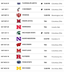 Ohio State Football Schedule 2019 When Do The Buckeyes Play
