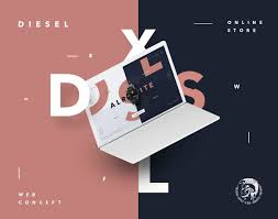 Diesel Graphic Design Pin By On Web Web Design Trends Diesel Store